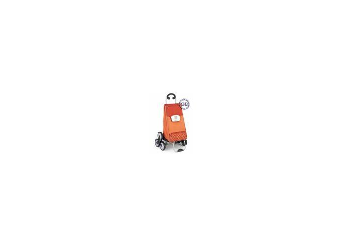 Сумка-Тележка для подъёма по ступенькам Gimi Tris оранжевая.  Габаритные размеры 54х48х100 см...