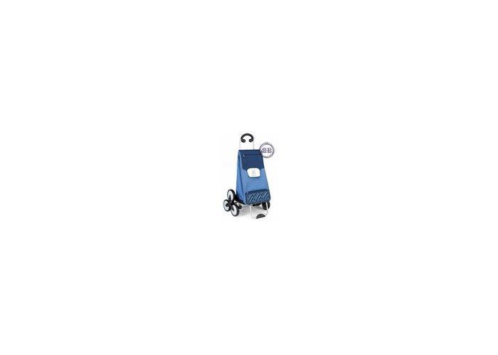 Сумка-Тележка для подъёма по ступенькам Gimi Tris голубая.  Габаритные размеры 54х48х100 см...